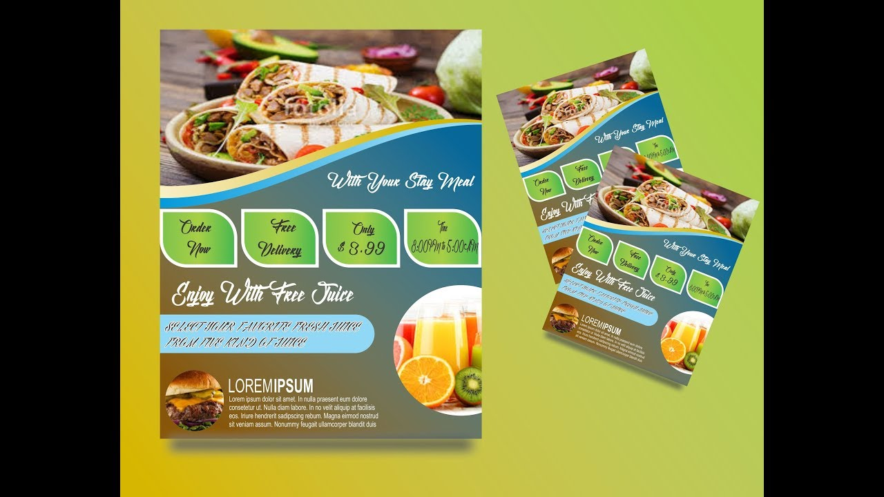 How to make Food Brochure Designs in corel draw x7 by Graphics Designs