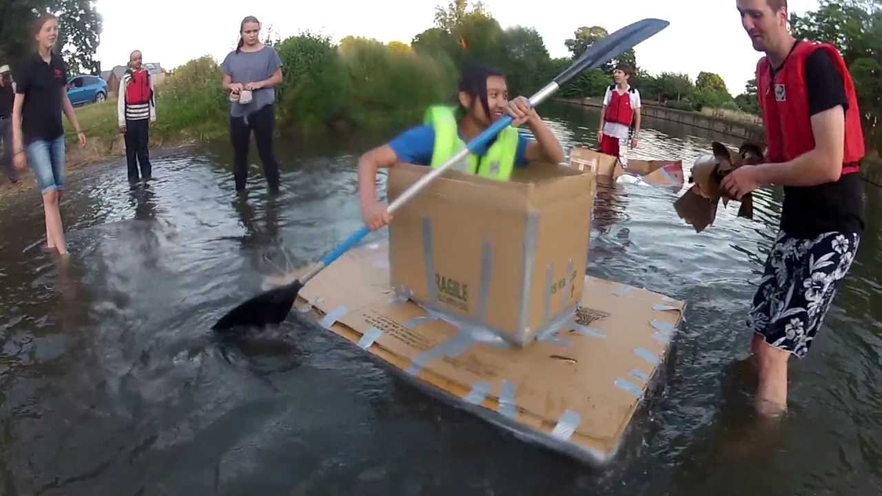 Cardboard box boats 11 july 2013 youtube for Boat mailbox