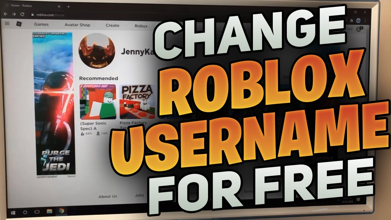 how to change your roblox username for free