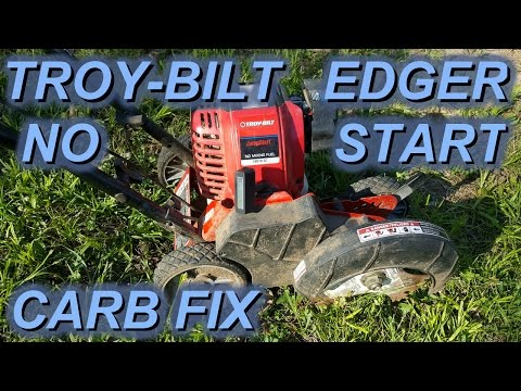 Troy-bilt edger won't run or start after sitting 2 years. Carb fix