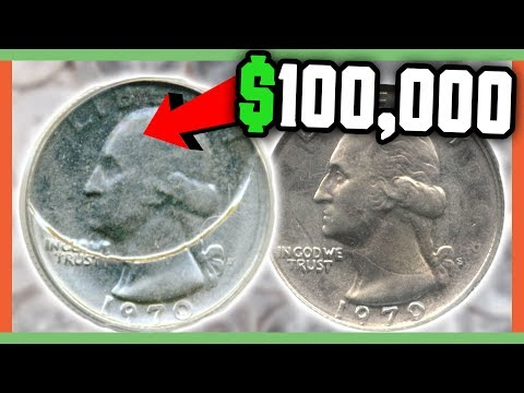 $100,000 RARE QUARTER TO LOOK FOR - RARE ERROR QUARTERS WORTH MONEY!!