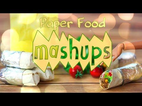 Mash Ups:  Paper Food Doll Crafts - Nachos | Tacos | Ramen & more