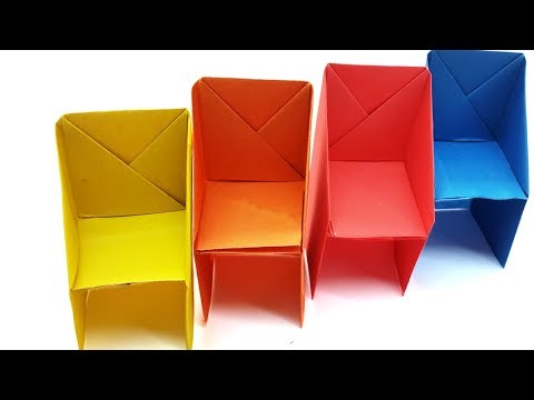 Very Easy Origami Chair Instructions - Paper Chair tutorial For Beginners | Paper Craft Videos