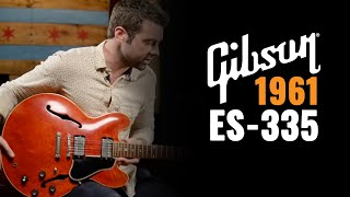 1961 Gibson ES-335 Red Guitar Demo