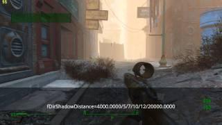 Fallout 4 fps test Дальность отрисовки теней fDirShadowDistance