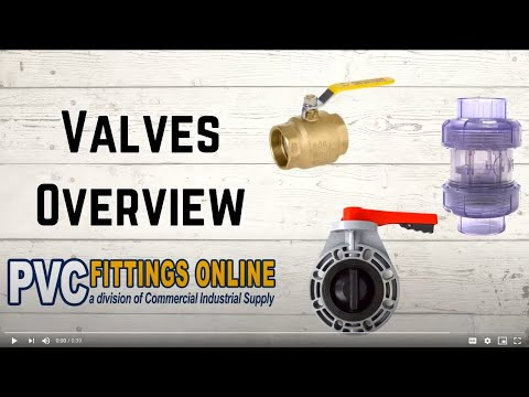 Valves Overview From PVC Fittings Online