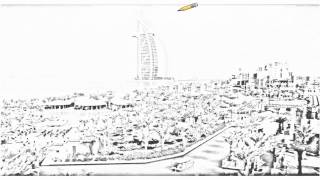 Auto Draw 2: Burj Al Arab Hotel, Dubai, United Arab Emirates