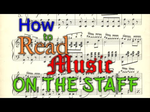 How to Read Music on the Staff (Introduction/Music Theory Supplement)