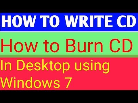HOW TO WRITE CD : How to burn a cd // how to write a cd for project