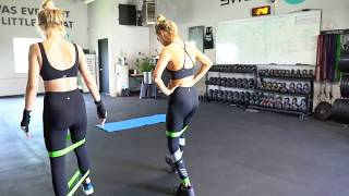 Model workout w/ Baskin Champion & Ellie Ottaway for a lean body inner thighs, butt, & abs exercises