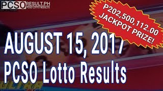 PCSO Lotto Results Today August 15, 2017 (6/58, 6/49, 6/42, 6D, Swertres & EZ2)