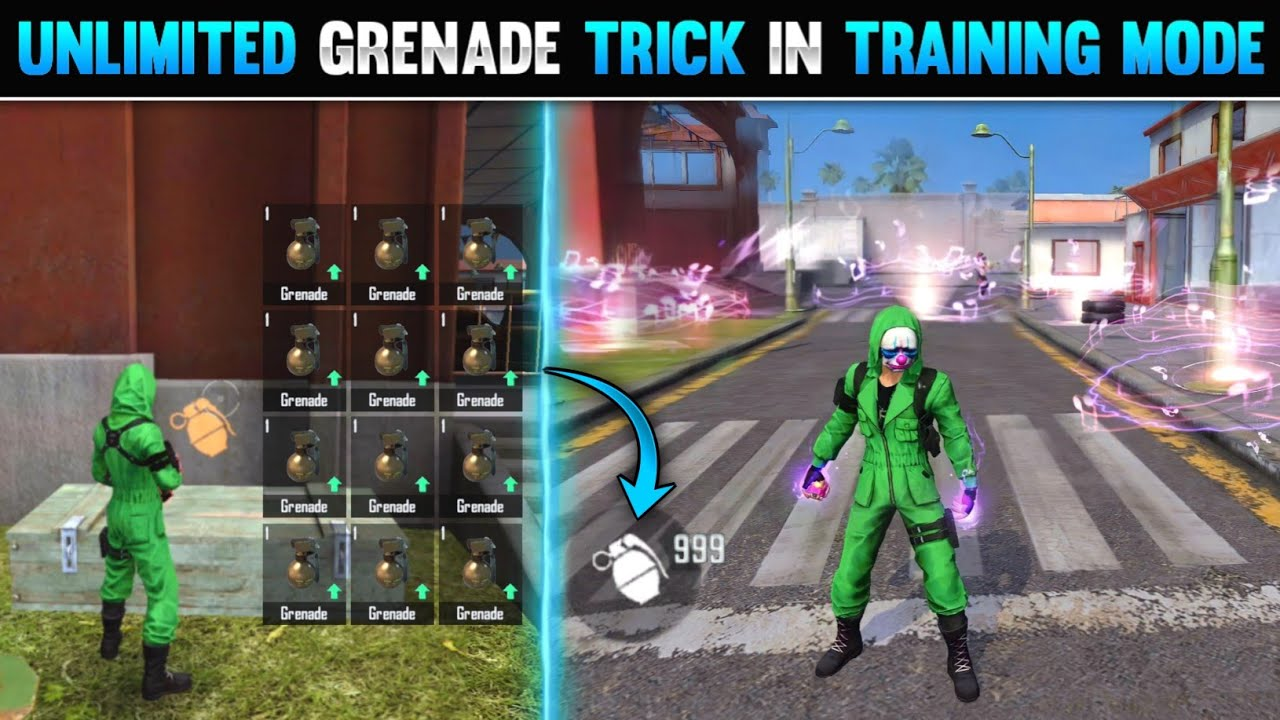 Download TOP 5 NEW TRICKS IN FREE FIRE | UNLIMITED GRENADE TRICK IN TRAINING MODE | FREE FIRE TIPS AND TRICKS