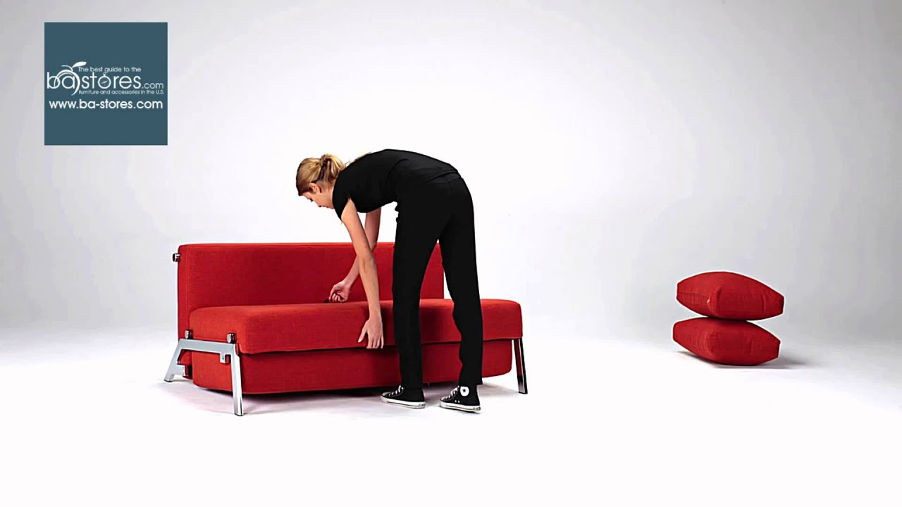 Innovation USA Cubed Deluxe Sofa Bed in Basic Red at bastores