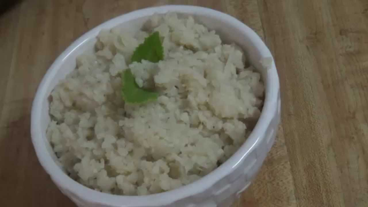 how to make mashed cauliflower without milk