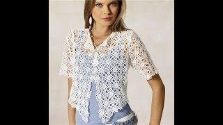 Женские Ажурные Кофточки Крючком - 2019 / Women's Lace Blouses Crochet / Damen Spitzenblusen