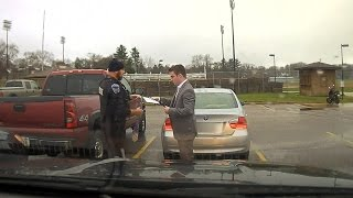 College Student Pulled Over For Speeding Learns How To Knot A Tie From Cop