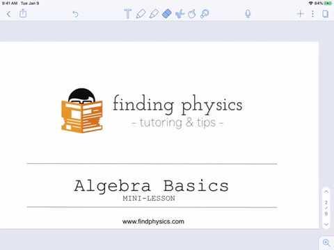 Physics Skills Mini-Lesson: Algebra Basics