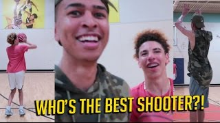 3 POINT CHALLENGE vs. LaMelo Ball   Who