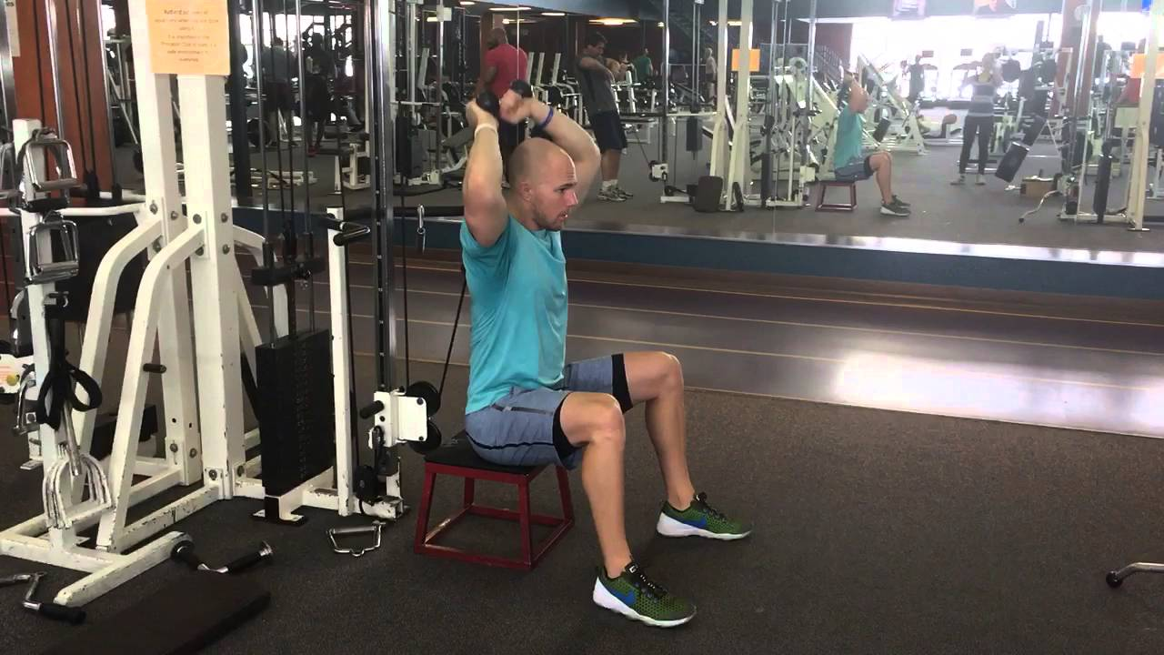 cable machine rope tricep extension