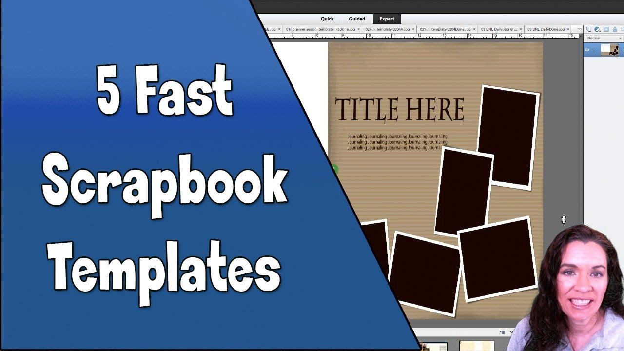 5 simple scrapbook layouts
