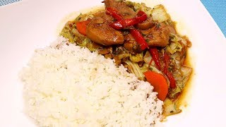 Stir Fry Chicken with Veg Big Version of Miniature Cooking [ASMR COOKING NO TALKING]