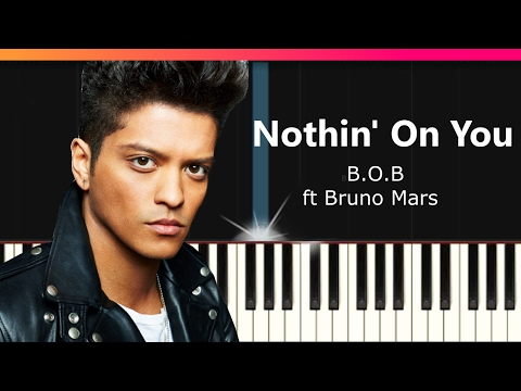 BOB  Nothin On You ft Bruno Mars EASY Piano Tutorial  Chords  How To Play