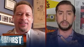 Chris Broussard & Nick Wright talk alternatives to home court for NBA return | FIRST THINGS FIRST