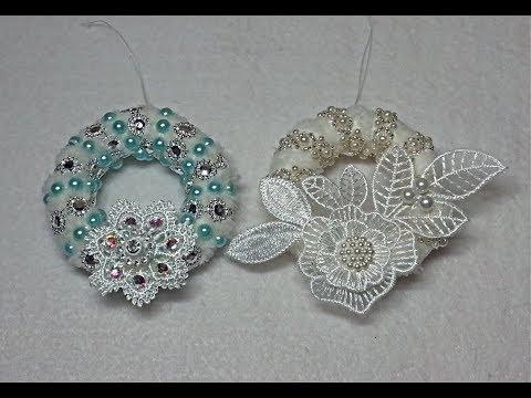 "DIY~Beautiful Shabby Chic ""Fur"" Wreath Ornaments! D.T. Materials!"