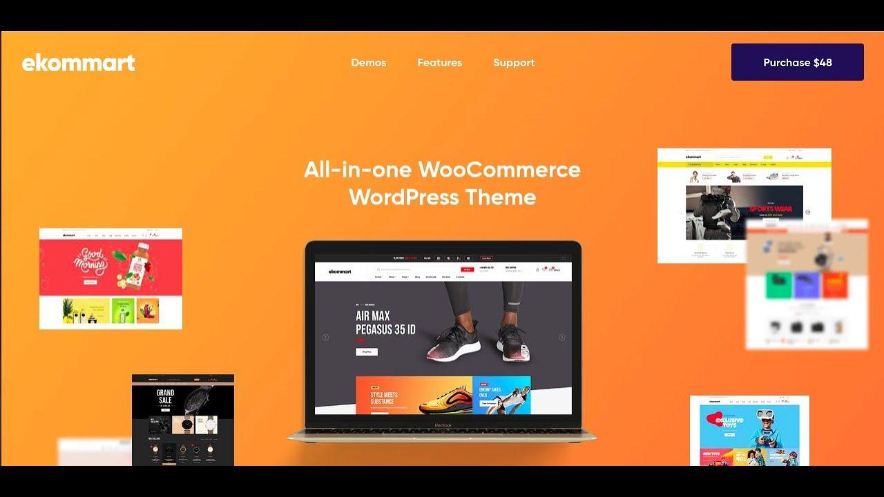 Ekommart - All-in-one eCommerce WordPress Theme   Multipurpose eCommerce Elementor Theme - YouTube