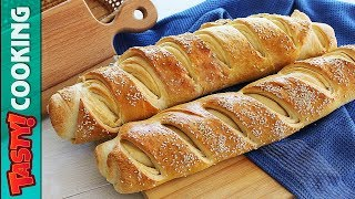French Baguette Recipe 🍞 How To Make Homemade French Bread Baguette 🍞 Tasty Cooking