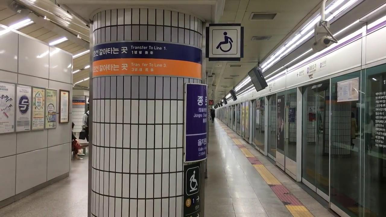 韓国】 ソウル地下鉄5号線 鍾路3...