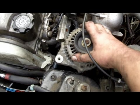 1990 Ford Alternator Wiring Diagram How To Replace Your Alternator 92 00 Honda Civic Youtube