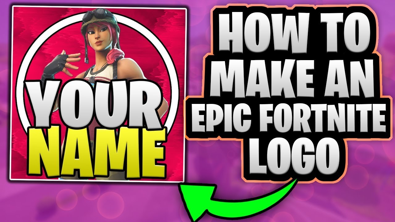 How To Make An Epic Fortnite Logo And A Cool Background In Photoshop Free Template Youtube