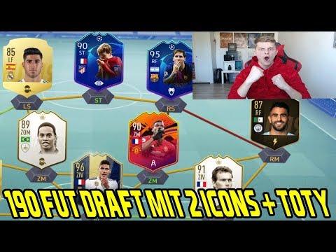 Fifa 19: Heftiges 190 Rated Fut Draft mit ICON Ronaldinho + Headliner POGBA! - Ultimate Team