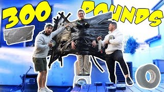 WILL DUCT TAPE HOLD A 300 POUND MAN?!?!