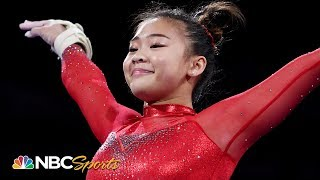 Suni Lee redeems tough day with incredible floor routine at worlds | NBC Sports