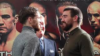 BRITISH TITLE ON THE LINE! GARY CORCORAN & JOHNNY GARTON HEAD-TO-HEAD @ PRESS CONFERENCE