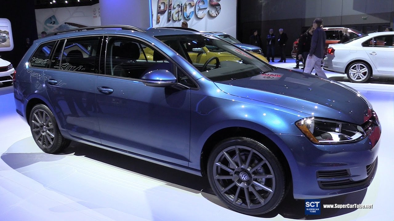 2017 Vw Golf Sportwagen Tsi Exterior And Interior Walkaround 2016 La Auto Show You