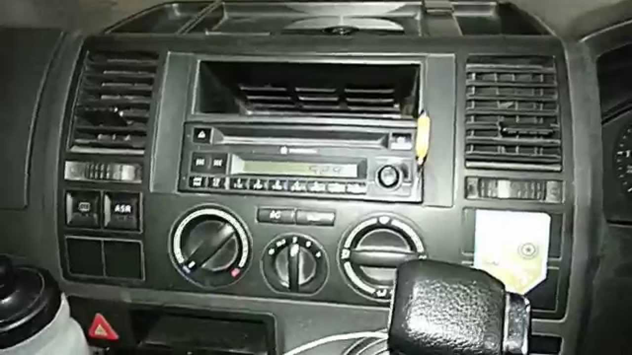 how to remove the factory radio from a vw transporter. Black Bedroom Furniture Sets. Home Design Ideas