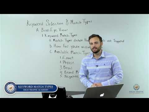 2  Keyword Match Types   High Traffic Academy