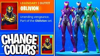 "NEW ""Oblivion"" SKIN in Fortnite! - Can We CUSTOMIZE the NEW Oblivion Skin? (Oblivion Skin Gameplay)"