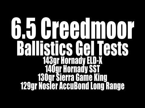 6.5 Creedmoor Ballistic Gel Tests - 143gr ELD-X, 140 SST, 130 SGK, 129 ABLR