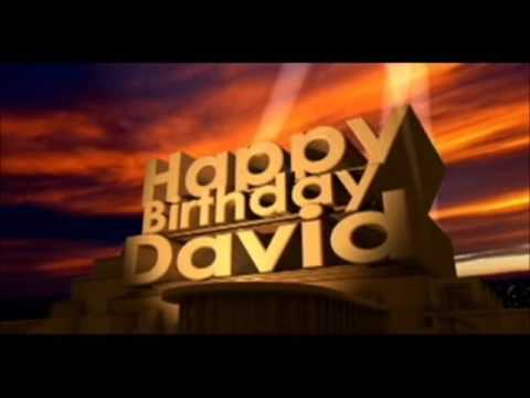 David Happy Birthday - 2016