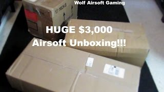 HUGE $3000 Airsoft Unboxing!!! (KWA Vector, G, Condor, USP, HK, KRISS, and More!)