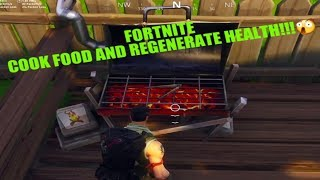 Fortnite-How to Cook Food and Regenerate lost Health!!|THEDAMNATION.