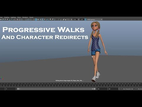 Maya Animation: A Guide To Progressive Walk Cycles And Character Redirects