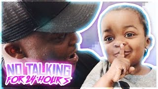 I CHALLENGED MY 3 YEAR OLD SON TO NOT TALK FOR 24 HOURS !!!! * must see *