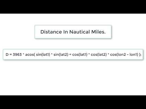 Calculate Distance in Nautical Miles: C Program