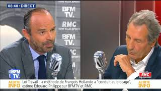 BOURDIN DIRECT du 24/08/17 Edouard PHILIPPE