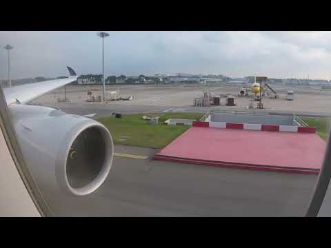 Singapore Airlines A350-900XWB Engine Start and Take Off fro
